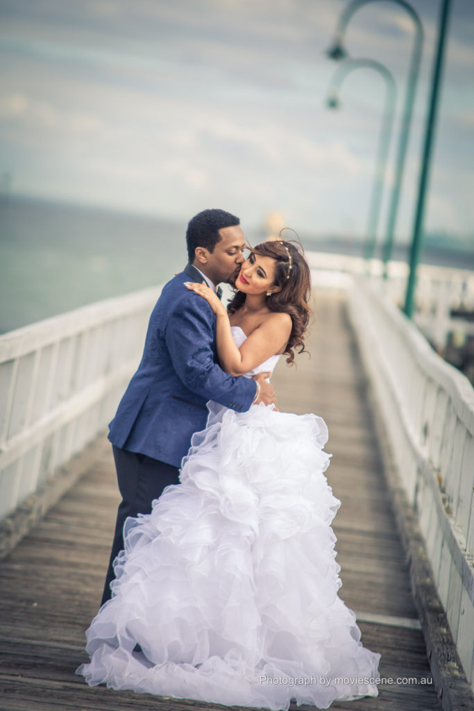Movie Scene Wedding Photo and videography at South Melbourne Pier
